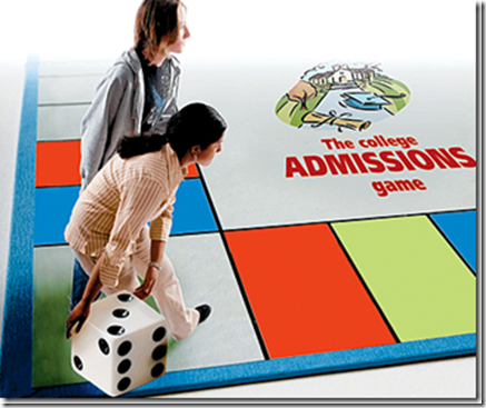 College admissions gameboard