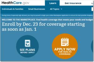 healthcare gov update
