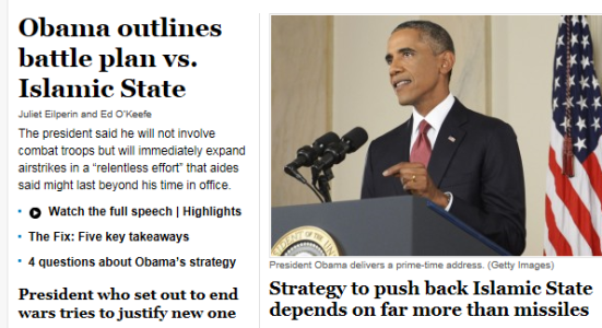 Obama - WashPost- Islamic State