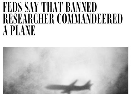 Hacker controls plane