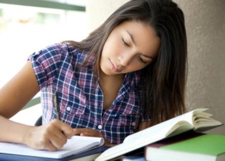 Student doing homewrok