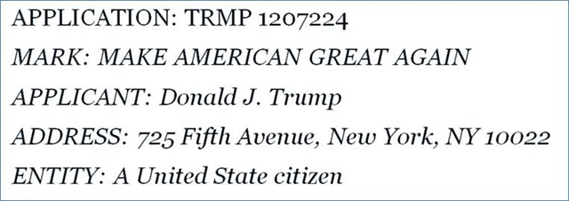 Is Make America Great Again Trademarked